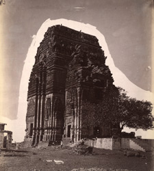 General view of the Teli-ka-Mandir before restoration, Gwalior